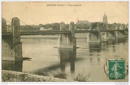 45 JARGEAU. Pont Suspendu 1911 - Jargeau