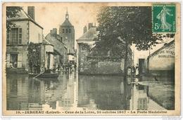 45 JARGEAU. Porte Madeleine Crue De La Loire En 1907 - Jargeau