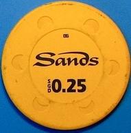 0.25 Casino Chip. Marina Bay Sands, Singapore. N39. - Casino
