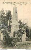 60 GANNES. Animation Au Monument Des Enfants Morts Guerre 1914-18. Restauration Bord Gauche 1931 - Sonstige Gemeinden
