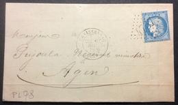 PL78 Hérault Graissessac GC 4757 6/12/1872 - Marcofilie (Brieven)