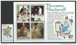US   1994  Sc#2839-40  Rockwell 29c & Souv Sheet MNH - United States