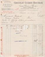 10-0465     1903 CHOCOLAT GUERIN BOUTRON ET FILS A PARIS - M. DUPONT A PONS - France