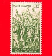 Nuovo - MNH - ITALIA - 1958 - 40º Anniversario Della Vittoria Nella Prima Guerra Mondiale - 15 L. - I Trionfi Di Cesare - 6. 1946-.. Republic