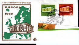 Bund 1969 Mi. 583-584 Als FDC Ersttagsbrief (pü0370) - [7] République Fédérale