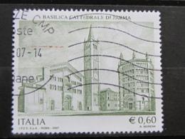 *ITALIA* USATI 2007 - BASILICA CATTEDRALE PARMA - SASSONE 2941 - LUSSO/FIOR DI STAMPA - 6. 1946-.. Repubblica