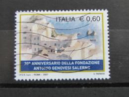 *ITALIA* USATI 2007 - 20° FONDAZIONE GENOVESI SALERNO - SASSONE 2945 - LUSSO/FIOR DI STAMPA - 6. 1946-.. Repubblica