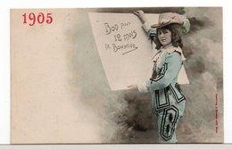 CPA - JEUNE FEMME - NOUVEL AN 1905 - Femmes