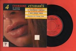 A. LIVERNAUX - 4 CÉLÈBRES CHANSONS D'ÉTUDIANTS - LES 3 ORFÈVRES / LE CORDONNIER PAMPHILE/ LES FILLES DE CAMARET - Vinyles