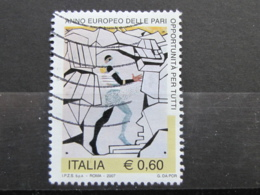 *ITALIA* USATI 2007 - PARI OPPORTUNITA' - SASSONE 2950 - LUSSO/FIOR DI STAMPA - 6. 1946-.. Repubblica