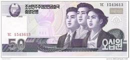 North Korea - Pick 60 - 50 Won 2002 - 2009 - Unc - Korea, North