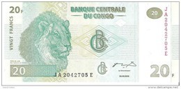 Congo - Pick 94A - 20 Francs 2003 - Unc - Congo