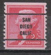 USA Precancel Vorausentwertung Preo, Bureau California, San Diego 1055-63 - Vereinigte Staaten