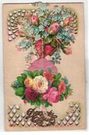 Oblaten-AK Blumenstrauss, Don Du Coer - Ansichtskarten
