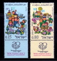 ISRAEL, 1968, Unused Hinged Stamp(s), With Tab, Independence Day, SG Number 388-389, Scan Number 17384 - Israel
