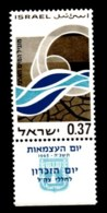 ISRAEL, 1965, Unused Stamp(s), With Tab, Independence,  SG Number 312,  Scannumber 17370 - Unused Stamps (with Tabs)