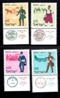 ISRAEL, 1966, Unused Stamp(s), With Tab, Stamp Day,  SG Number 348-351,  Scannumber 17377 - Israel