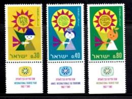 ISRAEL, 1967, Unused Hinged Stamp(s), With Tab, Tourist Year, SG Number 369-371, Scan Number 17381 - Israel