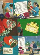 8 CARTOLINE INNAMORATI (709) - Cartoline