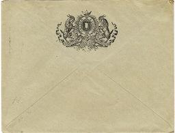 ENVELOPPE  A EN-TETE GRUBER ET CIE DIRECTION DES TAVERNES PARIS BELLE ILLUSTRATION AU VERSO - Postmark Collection (Covers)