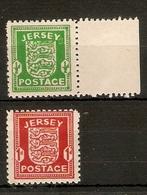 JERSEY 1941 - 1943 SET SG1/ 2 UNMOUNTED MINT Cat £16 - Jersey