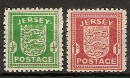 JERSEY 1941 - 1943 SET SG 1/ 2 UNMOUNTED MINT Cat £16 - Jersey