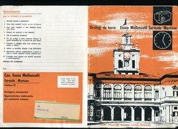 274 SERMIDE , DEPLIANT PUBBLICITARIO OROLOGI DA TORRE MELLONCELLI , (ROMA PALAZZO DEL QUIRINALE) - Pubblicitari