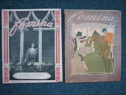 5 Revues FEMINA 1904-1909-1912-1913-Noel 1905- Format 28X35  28 Pages Env. Par ExempL. BE D'usage - Livres, BD, Revues