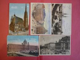 AUSTRIA - WIEN , LOT 5 OLD POSTCARDS - 5 - 99 Karten