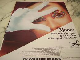 ANCIENNE PUBLICITE TV COULEUR DE PHILIPS 1968 - Publicité