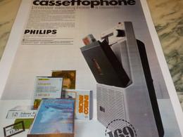 ANCIENNE PUBLICITE NOUVEAU CASSETTOPHONE DE PHILIPS 1968 - Musique & Instruments