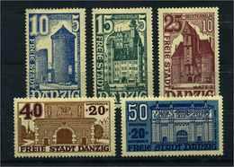 DANZIG 1936 Nr 262-266 Haftstelle/Falz (109839) - Dantzig
