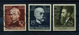 DANZIG 1938 Nr 306-308 Gestempelt (109855) - Dantzig