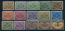 GENERALGOUVERNEMENT 1940 Nr D1-15 Postfrisch (109900) - Occupation 1938-45