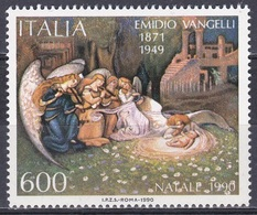 Italien Italy 1990 Religion Christentum Weihnachten Christmas Noel Navidad Natale Gemälde Painting Vangelli, Mi. 2161 ** - 1946-.. République