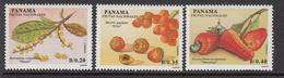 1990 Panama Fruits Complete Set Of 3 MNH - Panama