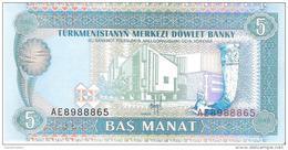 Turkmenistan - Pick 2 - 5 Manat 1993 - Unc - Turkménistan