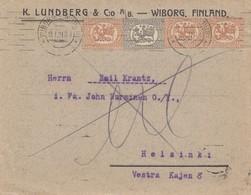 Finnland: 1921: Brief Wiborg Nach Helsinik - Finland
