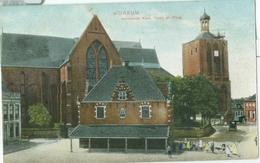 Workum; Hervormde Kerk, Toren En Waag - Niet Gelopen. (T. Gaastra Bz.) - Workum