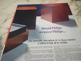 ANCIENNE PUBLICITE AMPLI TUNER QUAND PHILIPS SURPASSE  PHILIPS 1968 - Musique & Instruments