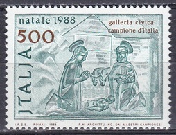 Italien Italy 1988 Religion Christentum Weihnachten Christmas Noel Navidad Natale Relief Galerie Campione, Mi. 2068 ** - 1981-90: Ungebraucht