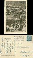 WW II WHW Karte 1933 - 34 : Deutsche Jugend , Deutsche Zukunft Jungvolk HJ An Einer Brücke Gebraucht München 1934. Sel - Deutschland