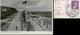 WW II Foto Karte : Ostseebad Bansin Usedom  Mit Hakenkreuzfahne ! Gebraucht Sonderstempel Heeringsdorf Nach Cottbus 19 - Briefe U. Dokumente