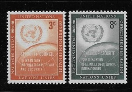 United Nations UN 1957 UN Emblem & Globe Security Council MNH - Ungebraucht