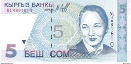 Kyrgyzstan - Pick 13 - 5 Som 1997 - Unc - Kirghizistan