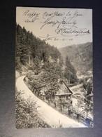 19869) FOTOCARTOLINA STRADA FIUME CASA LOCALITA' DA IDENTIFICARE VIAGGIATA 1905 - Cartoline