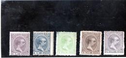 B -1880/97 Porto Rico - Re Alfonso XIII (nuovi Senza Gomma) - Puerto Rico