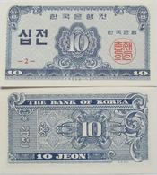 South Korea 1962 - 10 Jeon - Pick 28 UNC - Korea, South