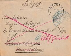 BRIEF EPFIG Elsass 1918 FELDPOST Geprüft Und Zu Beferdörung - Briefe U. Dokumente