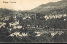 OLIVETTA - Liguria-Italia -Panorama -voyagée 1919 -Scans Recto Verso- Paypal Free - Italie